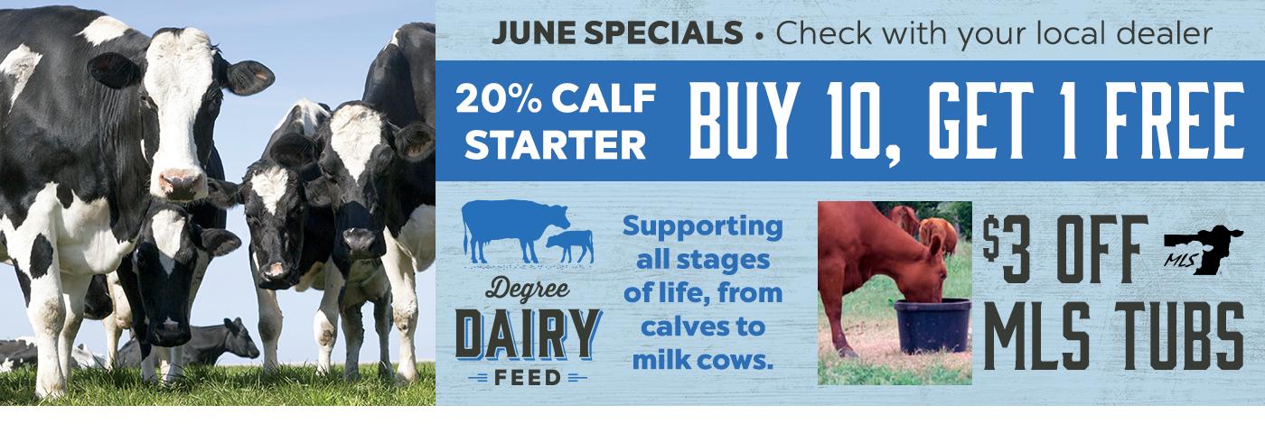 Buy 10 20% Calf Starter, Get 1 Free